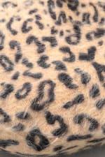 Leopard Print  Soft Beret Beanie - Brown - Detail