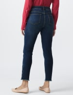 Signature 5 Pocket Skinny Ankle Jean With Snap Button At Ankle - 5