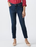Signature 5 Pocket Skinny Ankle Jean With Snap Button At Ankle - 4