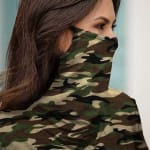 """Never Forget Your Mask"" Fashion Top - Camo - Detail"