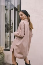 Effortless Oversized Shirt - Light Blush - Back
