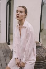 Linen Shirt - Light Blush - Back