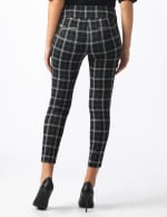 Knit Plaid Pull On Pant with Pocket Detail - Black/ultramarine - Back