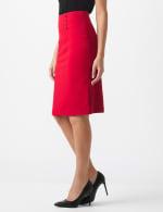 Pencil Skirt with Enamel Button Trim - 4