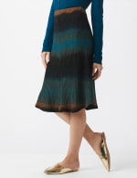 Dip Dye Rib Knit Pull On Skirt - 8