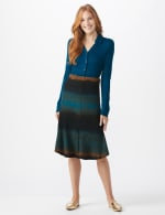 Dip Dye Rib Knit Pull On Skirt - 10