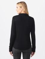 Rayon Span Pique Shirt - Misses - Black - Back
