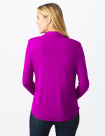 Rayon Span Pique Shirt - Tropical Orchid - Back