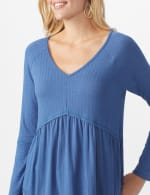 Pointelle V-Neck Knit Top - 4