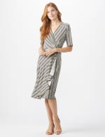 Wrap Striped Dress - Misses - 5