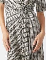 Wrap Striped Dress - Misses - 4