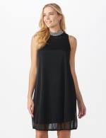 Tiana B Beaded Mock Neck Dress - 5