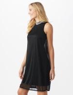 Tiana B Beaded Mock Neck Dress - 3