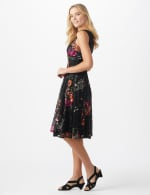 Floral Lace Fit and Flare Dress - 3