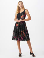 Floral Lace Fit and Flare Dress - 5