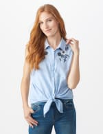 Embroidered Stripe Shirt - 5