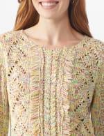 Roz & Ali Novelty Fringe Pullover Sweater - 5