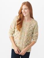 Roz & Ali Novelty Fringe Pullover Sweater - 6