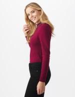 Roz & Ali Jeweled Mock Neck Pullover Sweater - 4