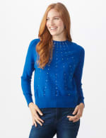 Roz & Ali Cascading Jewels Pullover Sweater - 5
