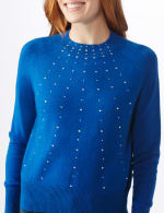Roz & Ali Cascading Jewels Pullover Sweater - 4