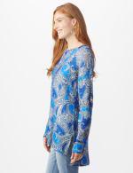 Paisley Eyelash Tunic Sweater - Misses - 3