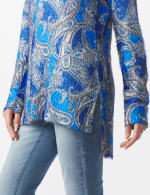 Paisley Eyelash Tunic Sweater - Misses - 4