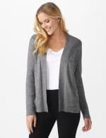 Roz & Ali Everyday Cardigan - Black/Coconut White - Front