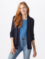 Roz & Ali Everyday Cardigan - Misses - Navy - Front