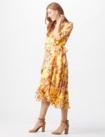 Floral Scroll Print Dress - 4