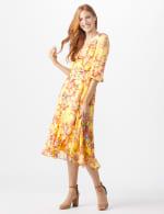 Floral Scroll Print Dress - 6