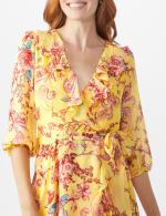 Floral Scroll Print Dress - 5
