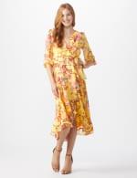 Floral Scroll Print Dress - 7