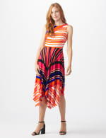 Colorful Striped Dress - 6