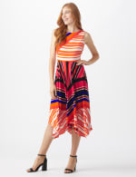 Colorful Striped Dress - Misses - black/rust - Front