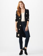 Roz & Ali Scattered Star Duster - Black/White - Front