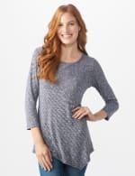 Westport Space Dye Sweater Knit Tunic - 1