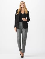 Pull On Houndstooth Print Compression Pant - 5