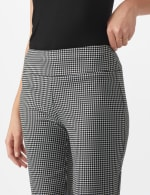 Pull On Houndstooth Print Compression Pant - 4
