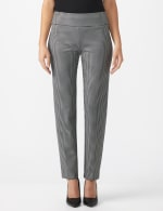 Pull On Houndstooth Print Compression Pant - 1