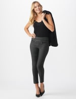 Pull On Pant with Pleather Pocket Detail - 5