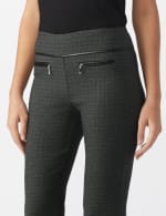 Pull On Pant with Pleather Pocket Detail - 4