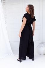 Jasmine Jumpsuit - Plus - Black - Back