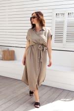 Uma Shirt Maxi Dress - 6