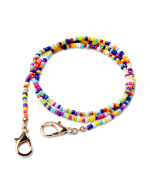 Multi Seedbead Mask Chain - Multi - Front