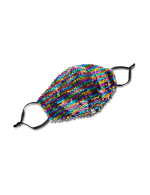 Rainbow Flip Sequin Fashion Face Mask - Multi - Front
