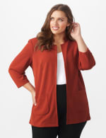 Notch Collar Open Topper- Plus - Brick - Front