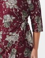 Robin  Floral Wrap Dress - Plus - 4