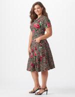 Leopard Rose Dress - Plus - 3