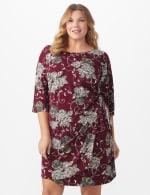 Robin  Floral Wrap Dress - Plus - 5